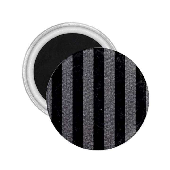 STRIPES1 BLACK MARBLE & GRAY DENIM 2.25  Magnets