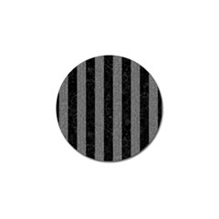 Stripes1 Black Marble & Gray Denim Golf Ball Marker by trendistuff