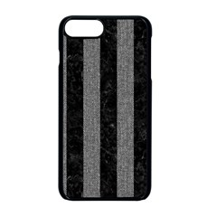 Stripes1 Black Marble & Gray Denim Apple Iphone 8 Plus Seamless Case (black) by trendistuff