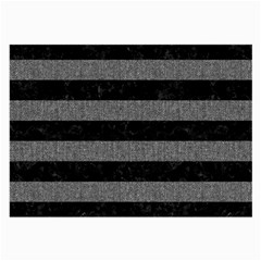 Stripes2 Black Marble & Gray Denim Large Glasses Cloth (2 Side) by trendistuff