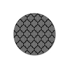 Tile1 Black Marble & Gray Denim Magnet 3  (round) by trendistuff