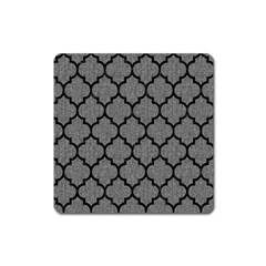 Tile1 Black Marble & Gray Denim Square Magnet by trendistuff