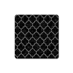 Tile1 Black Marble & Gray Denim (r) Square Magnet by trendistuff
