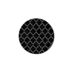 Tile1 Black Marble & Gray Denim (r) Golf Ball Marker by trendistuff