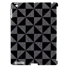 Triangle1 Black Marble & Gray Denim Apple Ipad 3/4 Hardshell Case (compatible With Smart Cover) by trendistuff