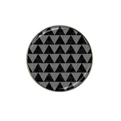 Triangle2 Black Marble & Gray Denim Hat Clip Ball Marker by trendistuff
