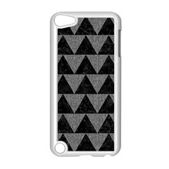 Triangle2 Black Marble & Gray Denim Apple Ipod Touch 5 Case (white) by trendistuff