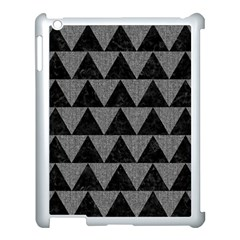 Triangle2 Black Marble & Gray Denim Apple Ipad 3/4 Case (white) by trendistuff
