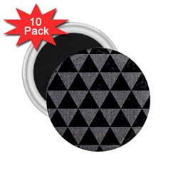 Triangle3 Black Marble & Gray Denim 2 25  Magnets (10 Pack)  by trendistuff