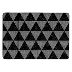 Triangle3 Black Marble & Gray Denim Samsung Galaxy Tab 8 9  P7300 Flip Case by trendistuff