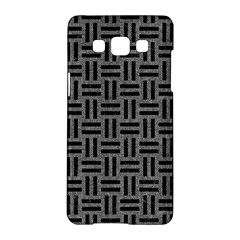 Woven1 Black Marble & Gray Denim Samsung Galaxy A5 Hardshell Case  by trendistuff