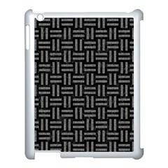 Woven1 Black Marble & Gray Denim (r) Apple Ipad 3/4 Case (white) by trendistuff