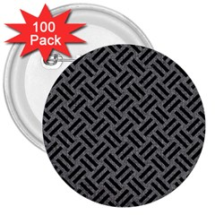 Woven2 Black Marble & Gray Denim 3  Buttons (100 Pack)  by trendistuff