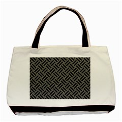 Woven2 Black Marble & Gray Denim Basic Tote Bag (two Sides) by trendistuff