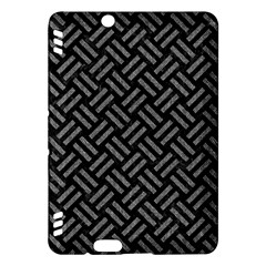 Woven2 Black Marble & Gray Denim (r) Kindle Fire Hdx Hardshell Case by trendistuff