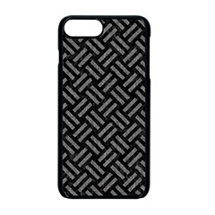 Woven2 Black Marble & Gray Denim (r) Apple Iphone 8 Plus Seamless Case (black) by trendistuff