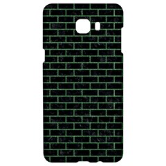 Brick1 Black Marble & Green Denim (r) Samsung C9 Pro Hardshell Case  by trendistuff