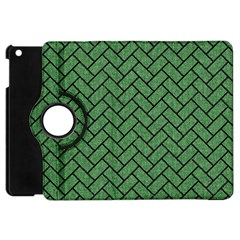 Brick2 Black Marble & Green Denim Apple Ipad Mini Flip 360 Case