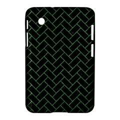 Brick2 Black Marble & Green Denim (r) Samsung Galaxy Tab 2 (7 ) P3100 Hardshell Case  by trendistuff