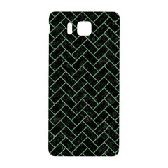 Brick2 Black Marble & Green Denim (r) Samsung Galaxy Alpha Hardshell Back Case by trendistuff