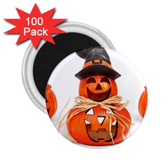Funny Halloween Pumpkins 2 25  Magnets (100 Pack)  by gothicandhalloweenstore