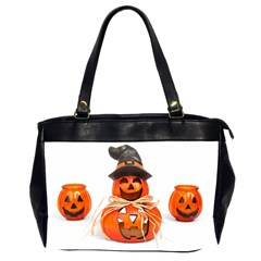 Funny Halloween Pumpkins Office Handbags (2 Sides)  by gothicandhalloweenstore