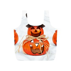 Funny Halloween Pumpkins Full Print Recycle Bags (s)  by gothicandhalloweenstore