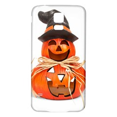 Funny Halloween Pumpkins Samsung Galaxy S5 Back Case (white) by gothicandhalloweenstore