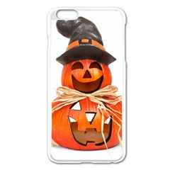 Funny Halloween Pumpkins Apple Iphone 6 Plus/6s Plus Enamel White Case by gothicandhalloweenstore