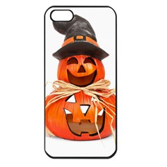 Funny Halloween Pumpkins Apple Iphone 5 Seamless Case (black) by gothicandhalloweenstore