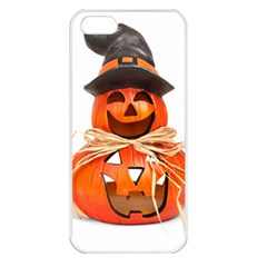 Funny Halloween Pumpkins Apple Iphone 5 Seamless Case (white) by gothicandhalloweenstore