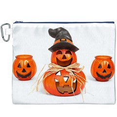 Funny Halloween Pumpkins Canvas Cosmetic Bag (xxxl) by gothicandhalloweenstore