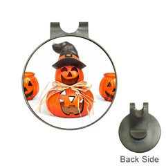 Funny Halloween Pumpkins Hat Clips With Golf Markers by gothicandhalloweenstore
