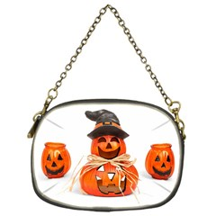 Funny Halloween Pumpkins Chain Purses (one Side)  by gothicandhalloweenstore