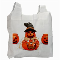 Funny Halloween Pumpkins Recycle Bag (one Side) by gothicandhalloweenstore