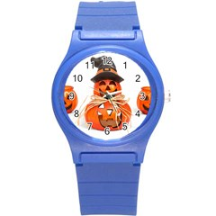 Funny Halloween Pumpkins Round Plastic Sport Watch (s) by gothicandhalloweenstore
