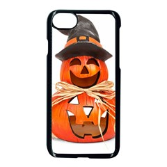 Funny Halloween Pumpkins Apple Iphone 8 Seamless Case (black) by gothicandhalloweenstore