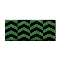 Chevron2 Black Marble & Green Denim Cosmetic Storage Cases by trendistuff