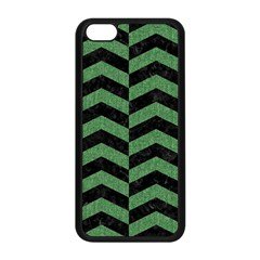 Chevron2 Black Marble & Green Denim Apple Iphone 5c Seamless Case (black) by trendistuff