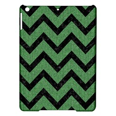 Chevron9 Black Marble & Green Denim Ipad Air Hardshell Cases