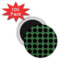 Circles1 Black Marble & Green Denim 1 75  Magnets (100 Pack)  by trendistuff