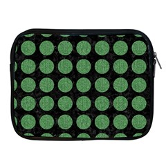 Circles1 Black Marble & Green Denim (r) Apple Ipad 2/3/4 Zipper Cases by trendistuff