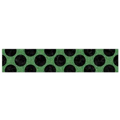 Circles2 Black Marble & Green Denim Small Flano Scarf by trendistuff