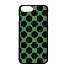 Circles2 Black Marble & Green Denim Apple Iphone 8 Plus Seamless Case (black) by trendistuff