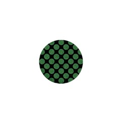 Circles2 Black Marble & Green Denim (r) 1  Mini Magnets by trendistuff