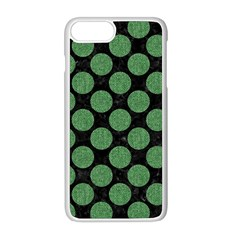 Circles2 Black Marble & Green Denim (r) Apple Iphone 8 Plus Seamless Case (white) by trendistuff