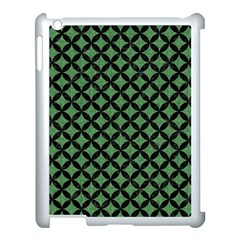 Circles3 Black Marble & Green Denim Apple Ipad 3/4 Case (white) by trendistuff