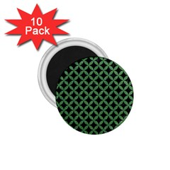 Circles3 Black Marble & Green Denim (r) 1 75  Magnets (10 Pack)  by trendistuff
