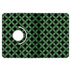Circles3 Black Marble & Green Denim (r) Kindle Fire Hdx Flip 360 Case by trendistuff