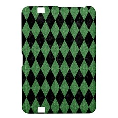 Diamond1 Black Marble & Green Denim Kindle Fire Hd 8 9  by trendistuff